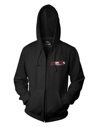 Hoodie à capuche zipé noir orKs eSports
