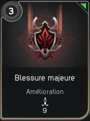 Blessure majeur