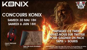 Concours Konix : participe et gagne une souris et son tapis !